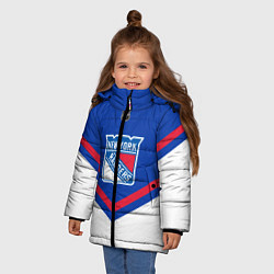 Куртка зимняя для девочки NHL: New York Rangers цвета 3D-черный — фото 2