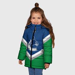 Куртка зимняя для девочки NHL: Vancouver Canucks цвета 3D-черный — фото 2