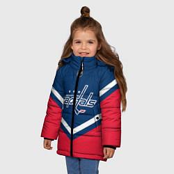 Детская зимняя куртка для девочки с принтом NHL: Washington Capitals, цвет: 3D-черный, артикул: 10112246006065 — фото 2