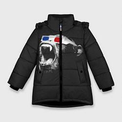 Куртка зимняя для девочки 3D Monkey цвета 3D-черный — фото 1