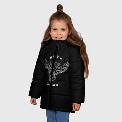 Куртка зимняя для девочки BMTH: Doomed цвета 3D-черный — фото 2
