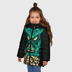 Куртка зимняя для девочки Bring Me The Horizon: Owl цвета 3D-черный — фото 2