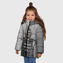 Куртка зимняя для девочки Нурмагомедов Хабиб цвета 3D-черный — фото 2