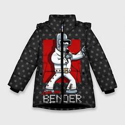 Куртка зимняя для девочки Bender Presley цвета 3D-черный — фото 1