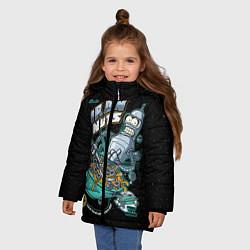 Куртка зимняя для девочки Iron Nuts цвета 3D-черный — фото 2