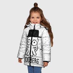 Куртка зимняя для девочки Zoidberg цвета 3D-черный — фото 2
