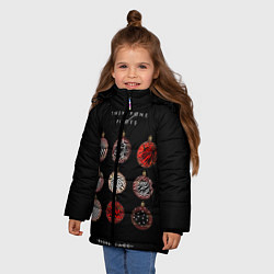 Куртка зимняя для девочки Twenty One Pilots: New year цвета 3D-черный — фото 2
