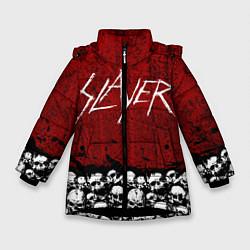 Детская зимняя куртка для девочки с принтом Slayer Red, цвет: 3D-черный, артикул: 10114909706065 — фото 1