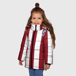 Куртка зимняя для девочки Атлетико Мадрид цвета 3D-черный — фото 2