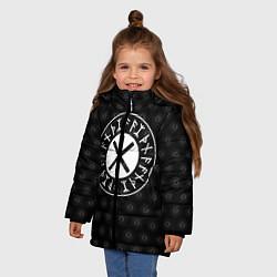Куртка зимняя для девочки Защита Одина цвета 3D-черный — фото 2