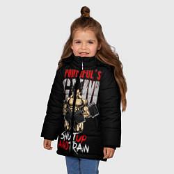Куртка зимняя для девочки Powerful Gym цвета 3D-черный — фото 2