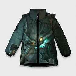 Куртка зимняя для девочки Маокай цвета 3D-черный — фото 1