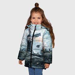 Куртка зимняя для девочки Battlefield 1 цвета 3D-черный — фото 2
