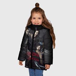 Куртка зимняя для девочки Дневники вампира цвета 3D-черный — фото 2