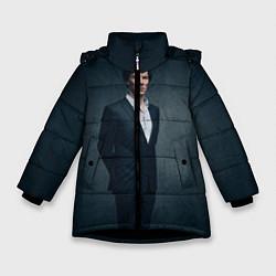 Куртка зимняя для девочки Шерлок цвета 3D-черный — фото 1