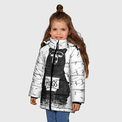 Куртка зимняя для девочки Bear Hugs цвета 3D-черный — фото 2