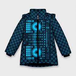 Детская зимняя куртка для девочки с принтом DJ Vinyl, цвет: 3D-черный, артикул: 10117481306065 — фото 1