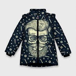 Куртка зимняя для девочки Hipster is Dead цвета 3D-черный — фото 1