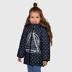 Куртка зимняя для девочки Illuminati цвета 3D-черный — фото 2