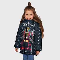 Куртка зимняя для девочки Rule the Streets цвета 3D-черный — фото 2