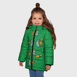 Куртка зимняя для девочки Боевая морковь цвета 3D-черный — фото 2