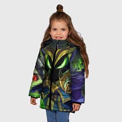 Куртка зимняя для девочки Вейгар цвета 3D-черный — фото 2