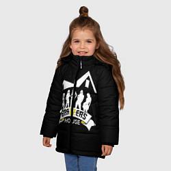 Детская зимняя куртка для девочки с принтом Brazzers House, цвет: 3D-черный, артикул: 10117837706065 — фото 2