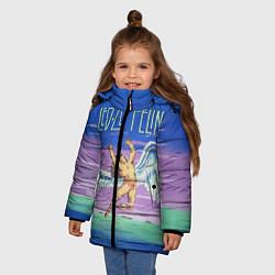 Куртка зимняя для девочки Led Zeppelin: Angel цвета 3D-черный — фото 2