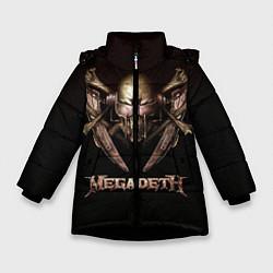 Детская зимняя куртка для девочки с принтом Megadeth, цвет: 3D-черный, артикул: 10118376206065 — фото 1