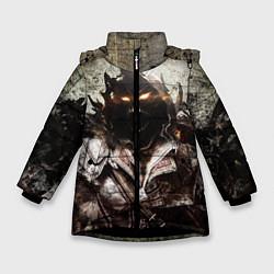 Куртка зимняя для девочки Disturbed: Madness цвета 3D-черный — фото 1