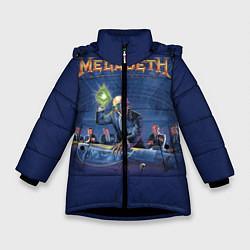 Куртка зимняя для девочки Megadeth: Rust In Peace цвета 3D-черный — фото 1