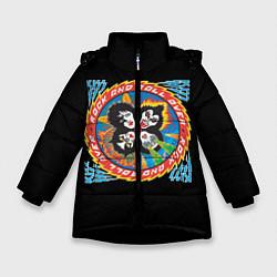 Куртка зимняя для девочки KISS: Over цвета 3D-черный — фото 1