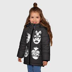 Куртка зимняя для девочки KISS Mask цвета 3D-черный — фото 2