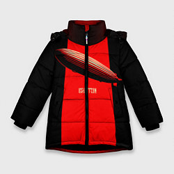 Куртка зимняя для девочки Led Zeppelin: Red line - фото 1