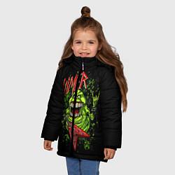 Куртка зимняя для девочки Slayer Slimer цвета 3D-черный — фото 2