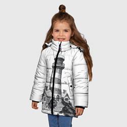 Куртка зимняя для девочки Маяк цвета 3D-черный — фото 2