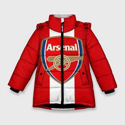 Куртка зимняя для девочки Arsenal FC: Red line цвета 3D-черный — фото 1