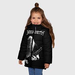 Куртка зимняя для девочки Dave Mustaine цвета 3D-черный — фото 2