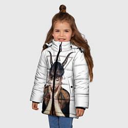 Куртка зимняя для девочки EXO Demon цвета 3D-черный — фото 2