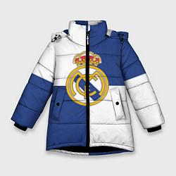 Куртка зимняя для девочки Real Madrid: Blue style цвета 3D-черный — фото 1