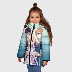 Куртка зимняя для девочки Alice Schuberg4 цвета 3D-черный — фото 2