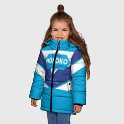 Куртка зимняя для девочки Молоко сгущеное цвета 3D-черный — фото 2