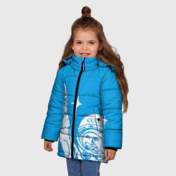 Куртка зимняя для девочки Гагарин рокер цвета 3D-черный — фото 2