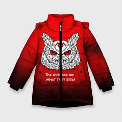 Куртка зимняя для девочки What they seem цвета 3D-черный — фото 1