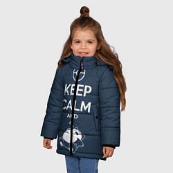 Куртка зимняя для девочки Keep Calm & Squirtle цвета 3D-черный — фото 2