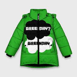 Куртка зимняя для девочки Green Day Clouds цвета 3D-черный — фото 1