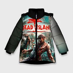Куртка зимняя для девочки Dead Island цвета 3D-черный — фото 1