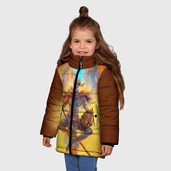 Куртка зимняя для девочки Вивек цвета 3D-черный — фото 2