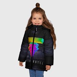 Куртка зимняя для девочки Tokio Hotel: New Symbol цвета 3D-черный — фото 2