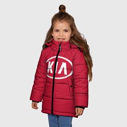 Детская зимняя куртка для девочки с принтом KIA, цвет: 3D-черный, артикул: 10130138906065 — фото 2